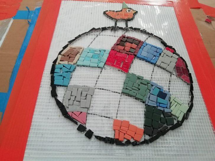Ballon en mosaïque
