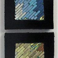 Série de 6 tableaux en grès