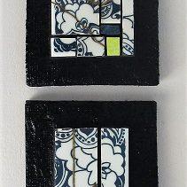 Série de 6 tableaux en kintsugi